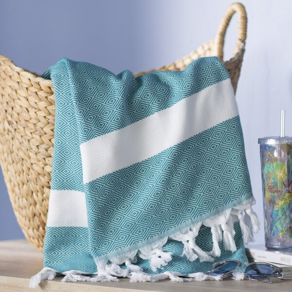 Pestemal Turkish 100% Cotton Beach Towel by Highland Dunes